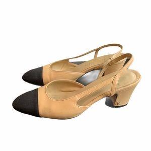 100% Authentic Chanel Slingback Heels